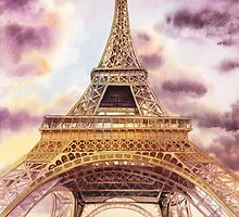 Eiffel Tower Paris France by Irina Sztukowski