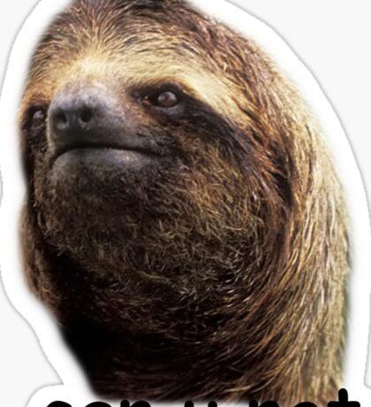 Can u not Sloth  Sticker