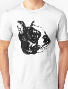 """Garbo"" Boston Terrier Graphic ~ black and white T-Shirt"