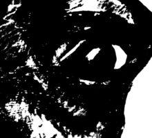 """Garbo"" Boston Terrier Graphic ~ black and white Sticker"