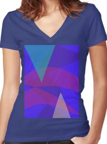 Pine Trees Women's Fitted V-Neck T-Shirt