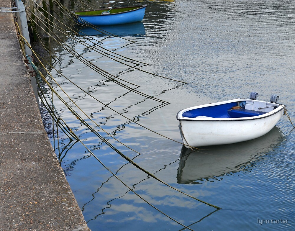 Small Boats at Lyme Harbour by lynn carter