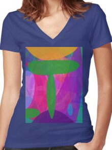Green T Women's Fitted V-Neck T-Shirt