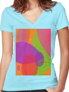 Flowers and Insects Women's Fitted V-Neck T-Shirt