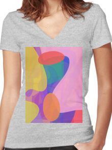 Beneath the Clouds Women's Fitted V-Neck T-Shirt