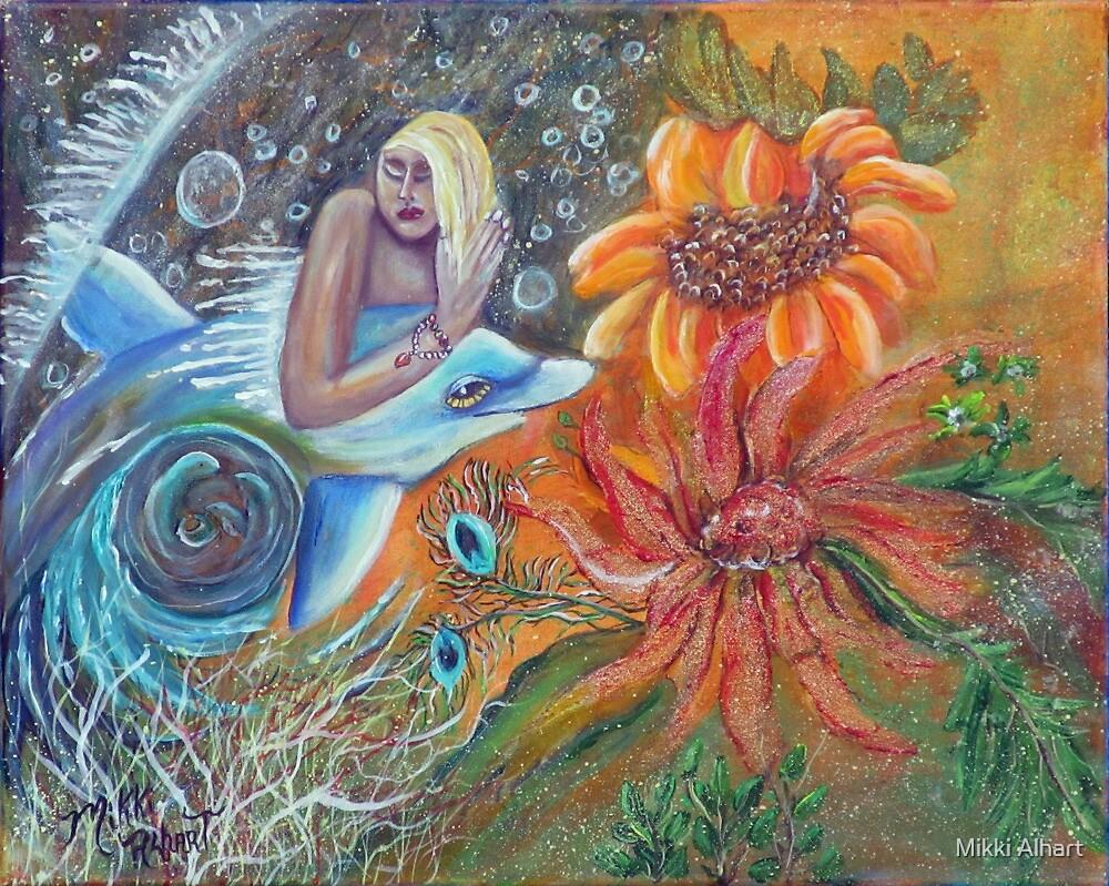 Aqua Maiden Collage by Mikki Alhart