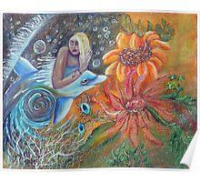 Aqua Maiden Collage Poster