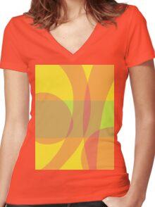 Bananas Women's Fitted V-Neck T-Shirt