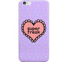 Offensive Heart Text - Super Freak iPhone Case/Skin
