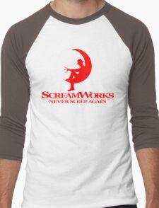 ScreamWorks (Red) Men's Baseball ¾ T-Shirt