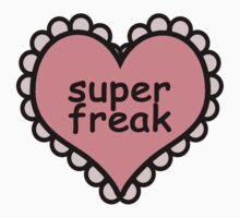 Offensive Heart Text - Super Freak One Piece - Short Sleeve