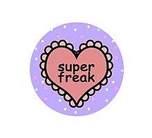 Offensive Heart Text - Super Freak Photographic Print