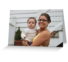 """Kayla and Her Favorite """"Little Man"""" Greeting Card"""
