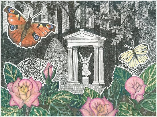 Butterflies in the Princesses Garden near Huis de Paauw by John Grundeken