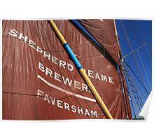 Sails - Sailing Barge Greta Poster