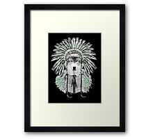 Indian chief wolf  Framed Print