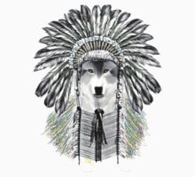 Indian chief wolf  Kids Clothes