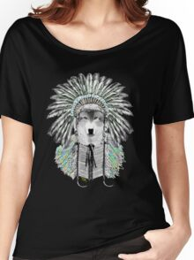 Indian chief wolf  Women's Relaxed Fit T-Shirt