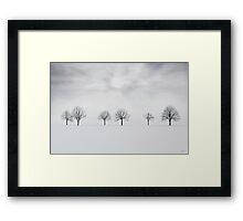 Three degrees of separation Framed Print
