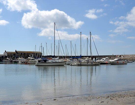 Calm And Serene - Lyme Harbour.Dorset.UK by lynn carter