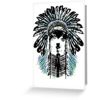 Indian chief wolf Greeting Card