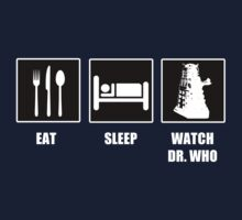 Eat Sleep Watch Doctor Who Baby Tee