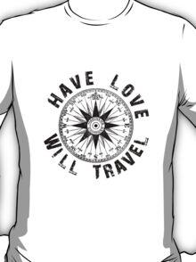 Have Love_black_print T-Shirt