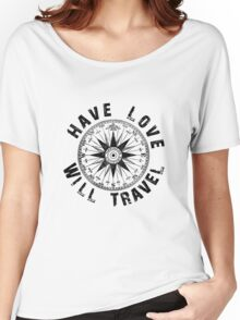 Have Love_black_print Women's Relaxed Fit T-Shirt