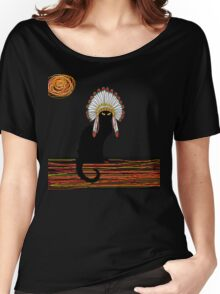 little Indian chief kitty cat  Women's Relaxed Fit T-Shirt