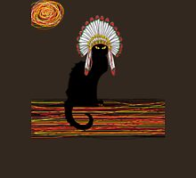 little Indian chief kitty cat  Womens Fitted T-Shirt