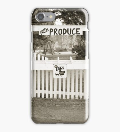 Vintage Produce Stand iPhone Case/Skin
