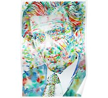 ALDOUS HUXLEY - watercolor portrait Poster