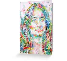 YOGANANDA - watercolor portrait Greeting Card
