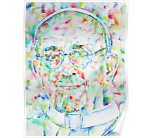 POPE FRANCIS - watercolor portrait Poster