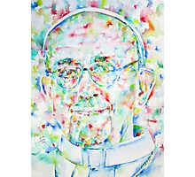 POPE FRANCIS - watercolor portrait Photographic Print