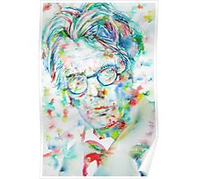 W. B. YEATS - watercolor portrait Poster