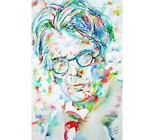 W. B. YEATS - watercolor portrait Photographic Print