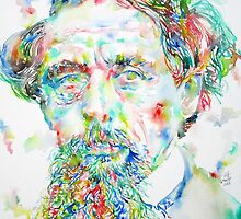 CHARLES DICKENS - watercolor portrait by lautir