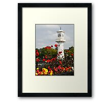 Roath Park Lighthouse Cardiff Wales Framed Print