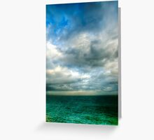 Green Seas Greeting Card