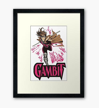 Gambit Superheroes T-Shirt Framed Print