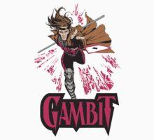 Gambit Superheroes T-Shirt by dntyarts