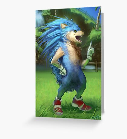 Sonic the Realhog Greeting Card