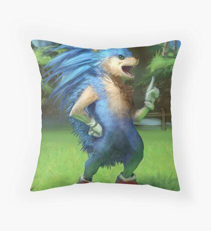 Sonic the Realhog Throw Pillow