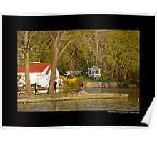 The Grist Mill Pond In The Evening - Stony Brook, New York  Poster