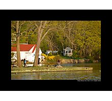 The Grist Mill Pond In The Evening - Stony Brook, New York  Photographic Print