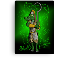 Sobek, Crocodile God Canvas Print