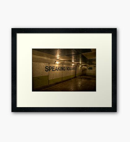 Subway - Speaking Volumes Framed Print