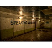 Subway - Speaking Volumes Photographic Print