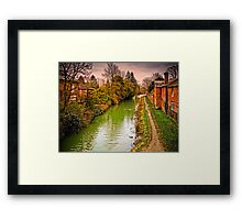 Hungerford Canal England Framed Print